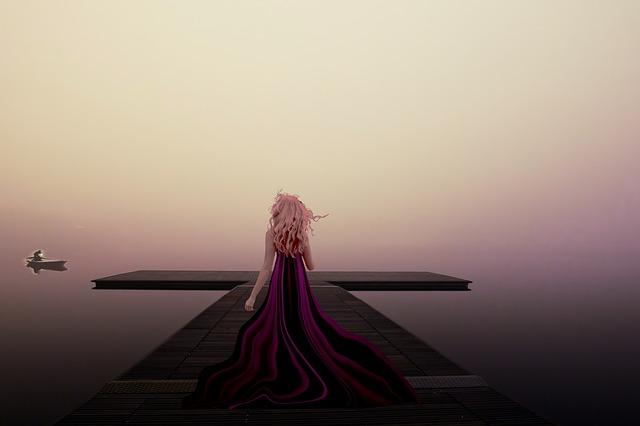 愛の港で待つ女
